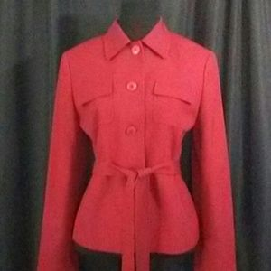Loft Red Wool Blazer